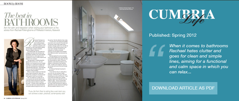 Cumbria Life Best of Bathrooms Spring 2012